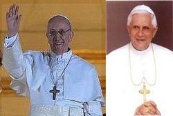 Pope Francis visits the Pope emeritus at Castel Gandolfo