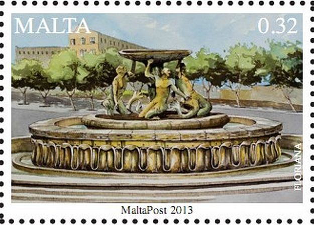 MaltaPost 'Treasures of Malta Series – Fountains' stamp set
