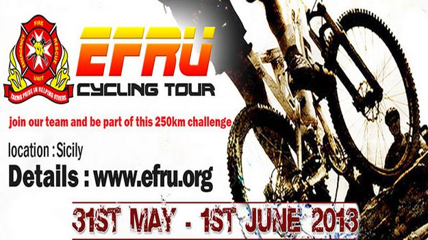 Emergency Fire & Rescue Unit Cycling Tour of Sicily 2013