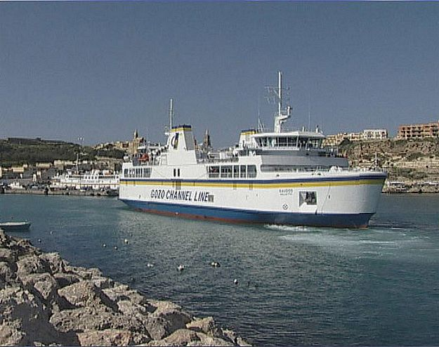 "Gozo ferry ""brushes"" quay while berthing at Mgarr Harbour"