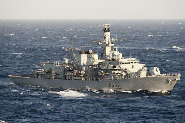 HMS Northumberland at Pinto Wharf on visit to Malta