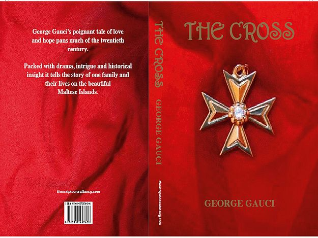 George Gauci book signing of The Cross at Bookworm, Gozo