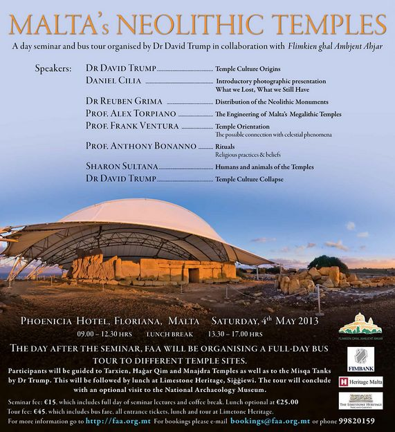 FAA 2-day seminar and tour of Malta's Neolithic Temples