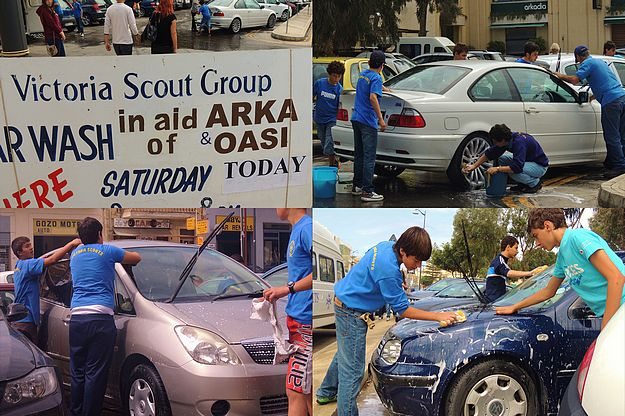 Victoria Scouts charity car wash all day today in Victoria
