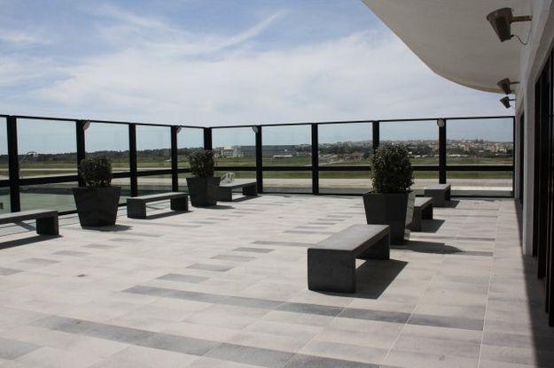New outdoor viewing veranda at Malta Airport Terminal