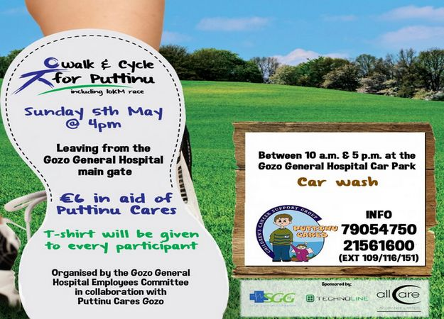 Gozo walk, bicycle race and car wash in aid of Puttinu Cares