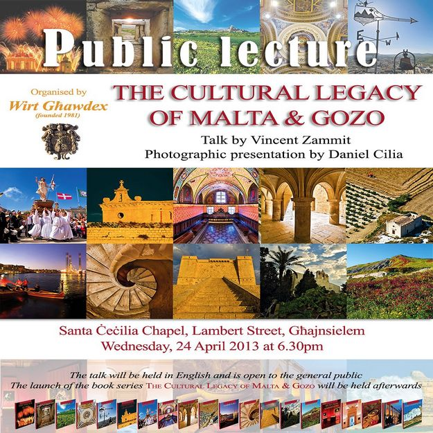 'The Cultural Legacy of Malta & Gozo' - Wirt Gawdex lecture
