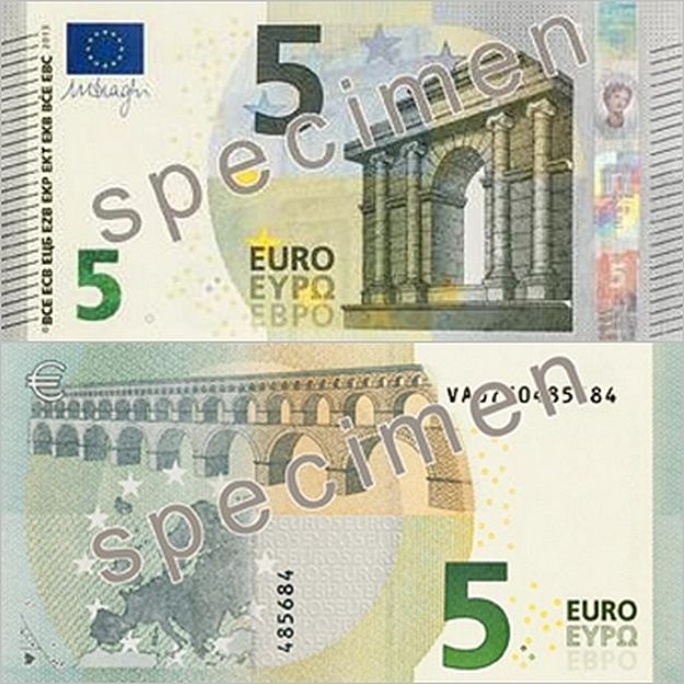 Eurosystem introduces the first Europa Series €5 banknote