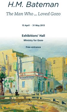 Exhibition open on HM Bateman: The Man who Loved Gozo