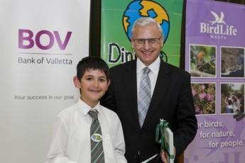 Children air their environmental concerns to Minister Brincat