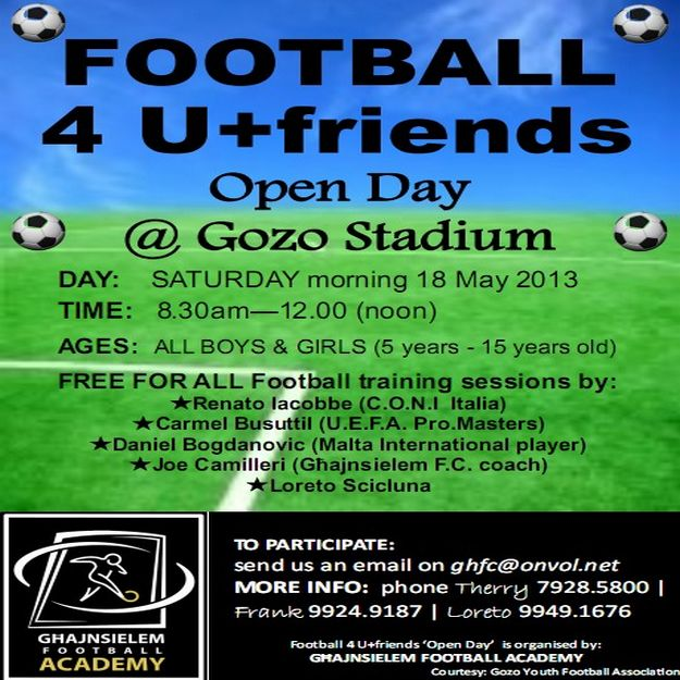Football 4 U + friends 'Open Day' at the Gozo Stadium