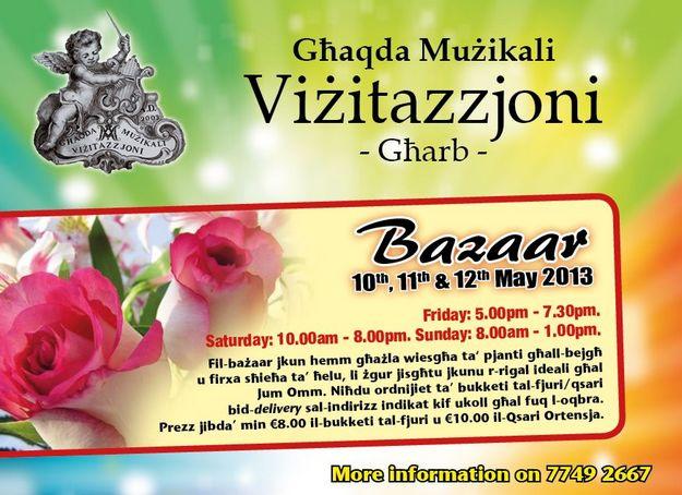 Ghaqda Muzikali Vizitazzjoni Mother's Day Bazaar and meal
