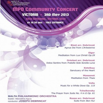 MPO Community Concert this Friday at the Gozo Cathedral