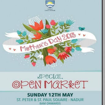 Mother's Day Open Market this Sunday in Nadur Square