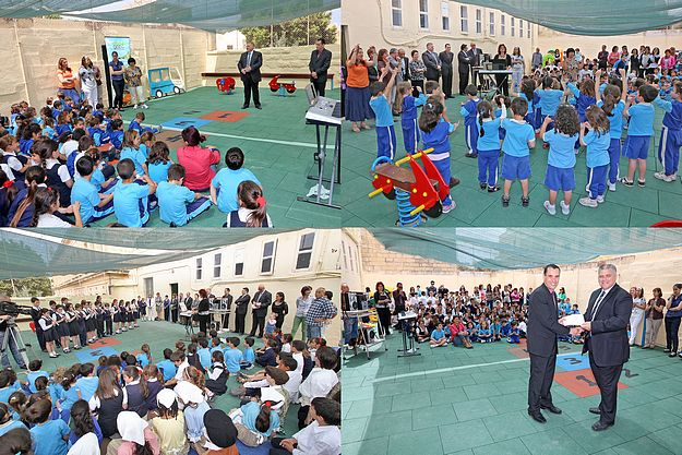 Inauguration of Gozo College Nadur Primary playground