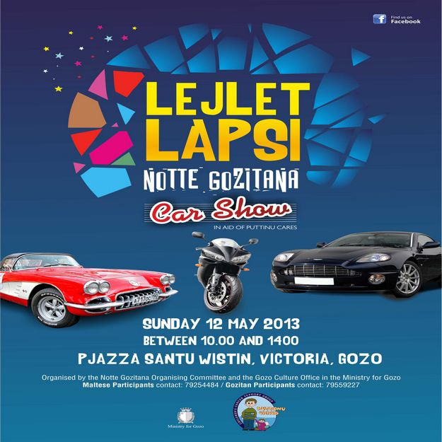 Gozo Car Show in aid of Puttinu Cares for Notte Gozitana