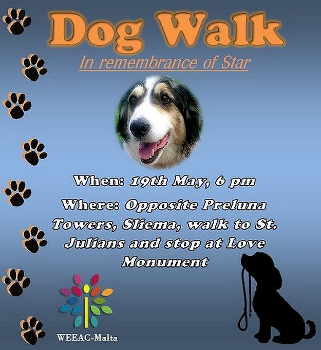 Dog Walk in remembrance of Star with WEEAC -  Malta