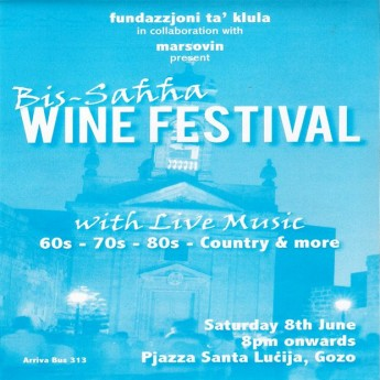 'Bis-sahha – Wine Festival' next Saturday in Santa Lucija