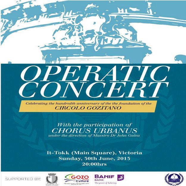 100th anniversary operatic concert for the Circolo Gozitano