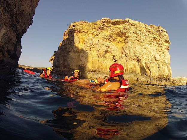 ERRC lifeguards assist swimmers in Comino and Ramla Bay, Gozo