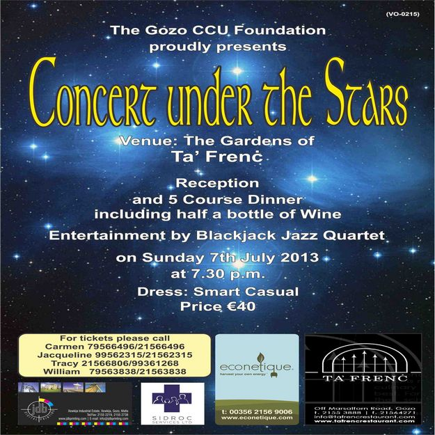 The Gozo CCU Foundation's 'Concert Under the Stars 2013'
