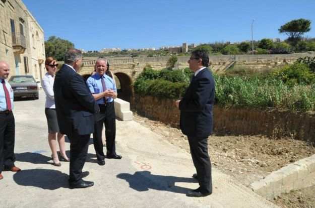 Gozo Minister visits the completed work at Simirat Valley