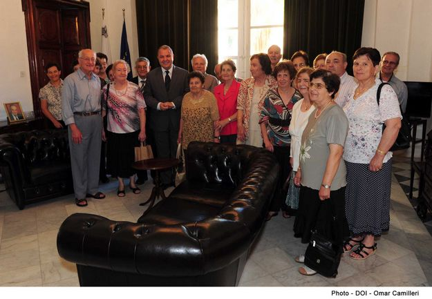 Gozo Retired Teachers' Assoc visit Speaker of the House