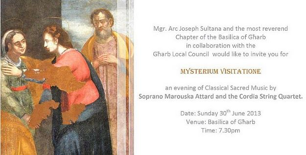 Mysterium Visitatione - Sacred Music at the Gharb Basilica