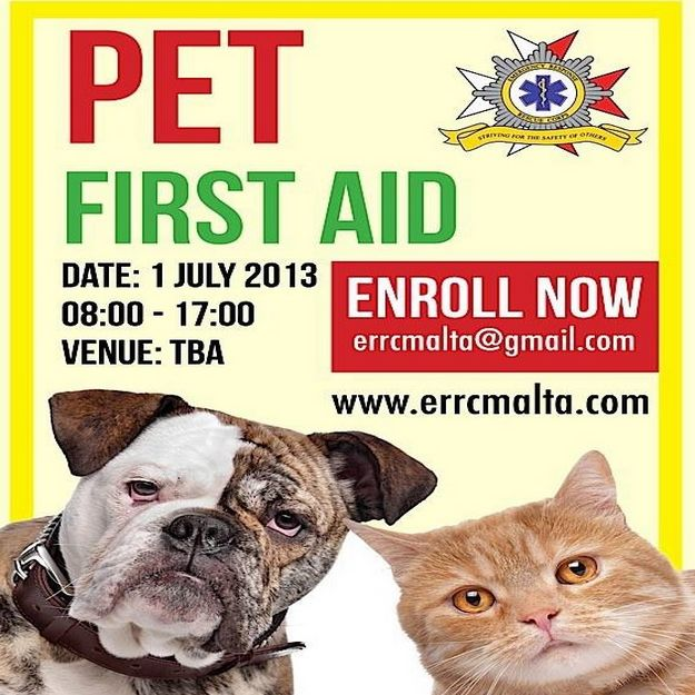 Pet First Aid Course being held in Gozo organised by ERRC