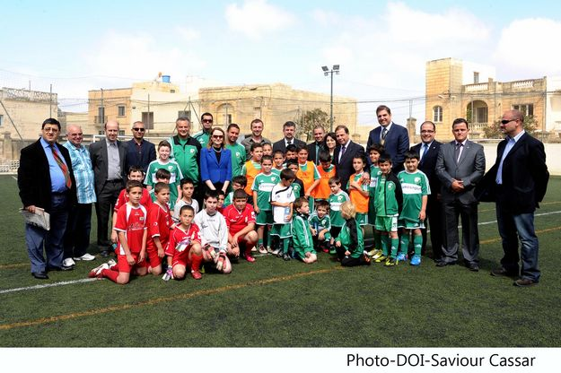 President Abela visits Don Bosco Football Nursery, Gozo