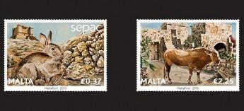 'Wild & Domestic Fauna of the Maltese Islands' stamp set