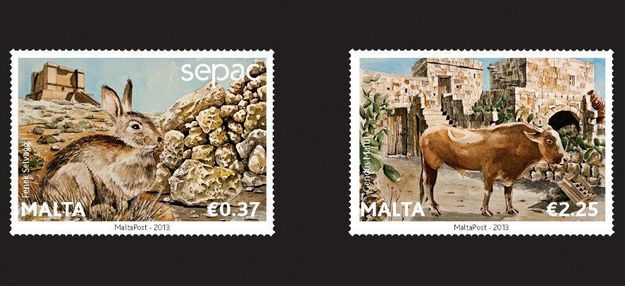 'Wild & Domestic Fauna of the Maltese Islands' stamp set