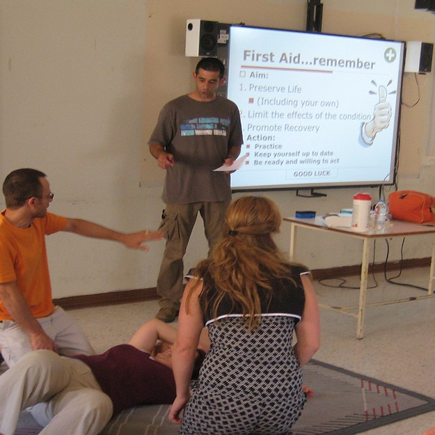 First Aid Course held for staff members at Sir M.A. Refalo