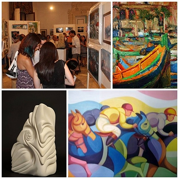 Art Club 2000 Gozo collective art exhibition at the Cittadella