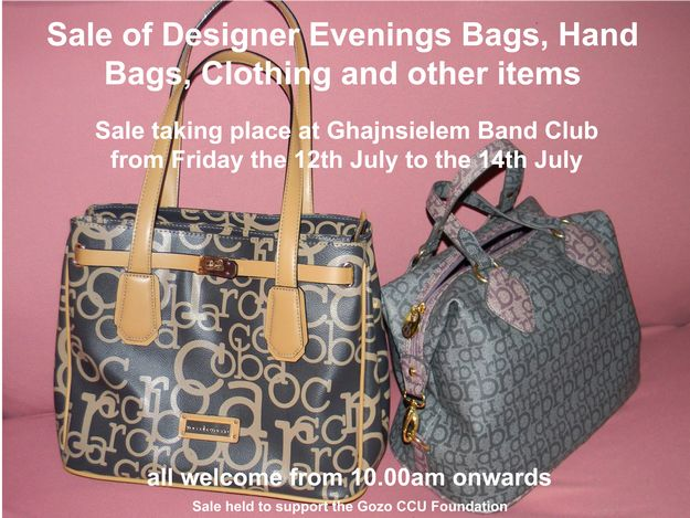 Sale of designer goods in aid of the Gozo CCU Foundation