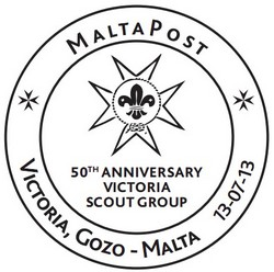 Special hand postmark - Victoria Scout Group anniversary