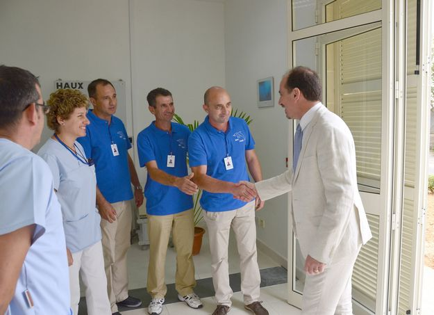 Health Minister visits Hyperbaric Unit at the Gozo Hospital