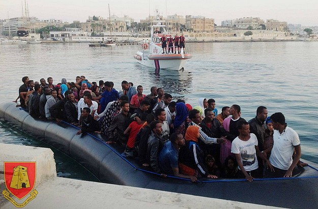 AFM intercept boat with 102 migrants including 2 babies