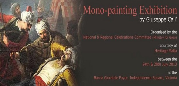 Giuseppe Cali' mono-painting exhibition' in Victoria this week