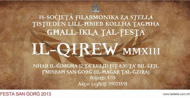 St George's Feast 'Qirew' with La Stella Philharmonic Society