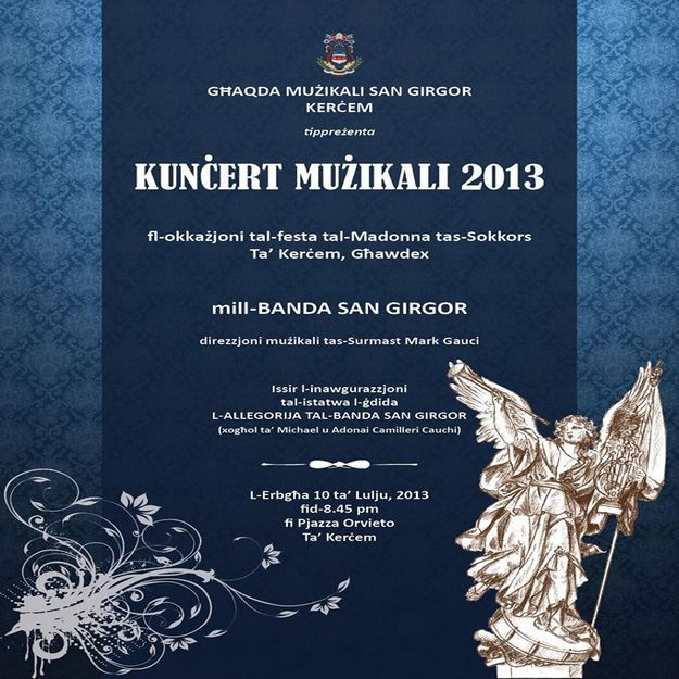 Annual Band Concert by the St Gregory Band of Kercem