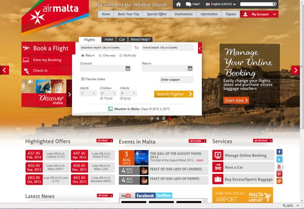 Air Malta launches 'Manage my Booking,' new online feature
