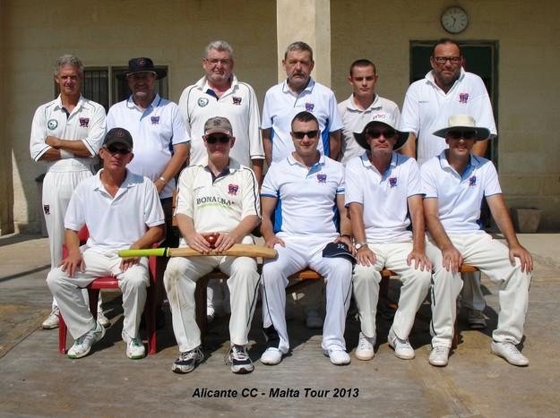 Intellectuals CC of Alicante visit Malta for a cricket weekend