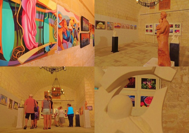 Art Club 2000 collective art exhibition at the Citadel, Gozo
