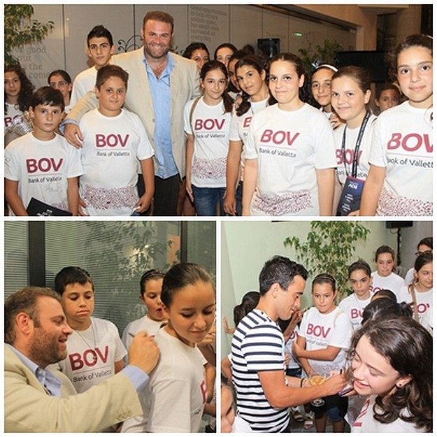 BOV Joseph Calleja Children's Choir enjoy a thank you party