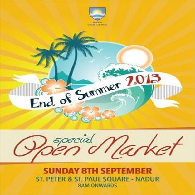 'End of Summer Open Market' this Sunday at Nadur Square