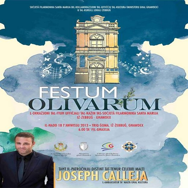 'Festum Olivarum' - Under the patronage of Joseph Calleja