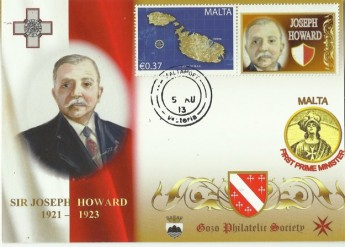 GPS personalised stamps series of Malta's Prime Ministers