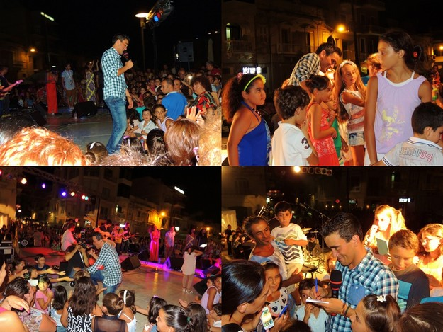 Gianluca special concert entertains the crowds in Marsalforn
