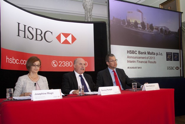 HSBC Malta announces resilient half-yearly results for 2013